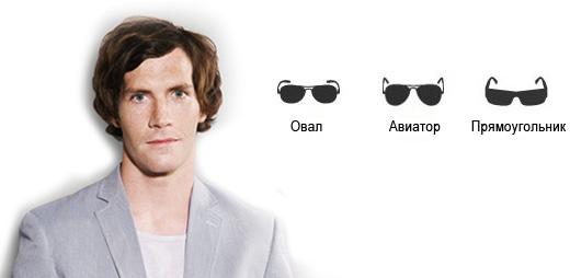 Солнцезащитные очки мужские для овального лица