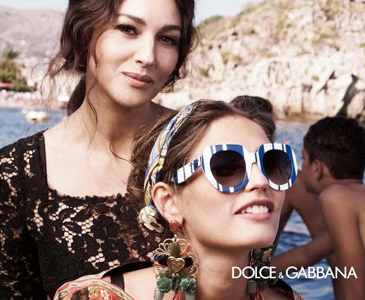 Полосатые очки» из весенне-летней коллекции Dolce   Gabbana 2013 ... 7a151fc5498